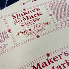 Maker's Mark Calligraphy