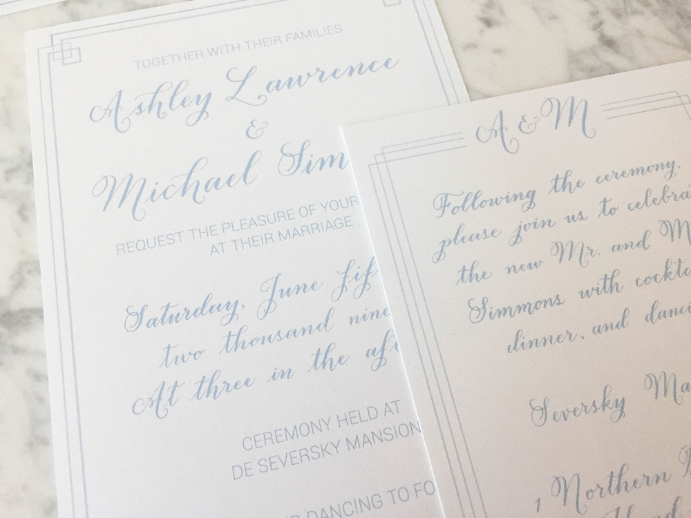 Seversky Mansion Wedding Invitation | P.S. Calligraphy