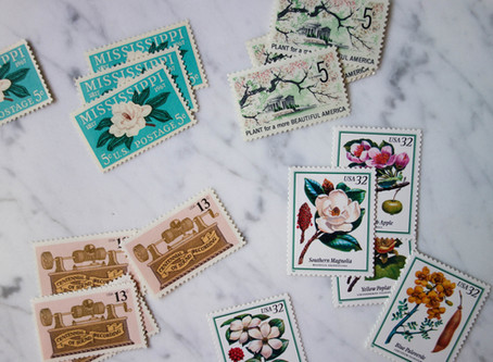How to Upgrade your Invites with Vintage Stamps (and where to find them)