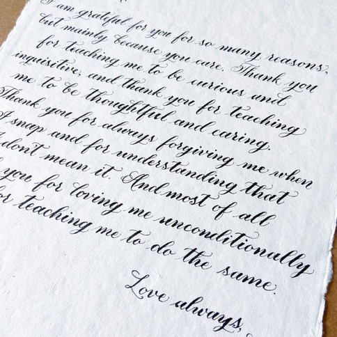 Mother's Day Calligraphy Gift