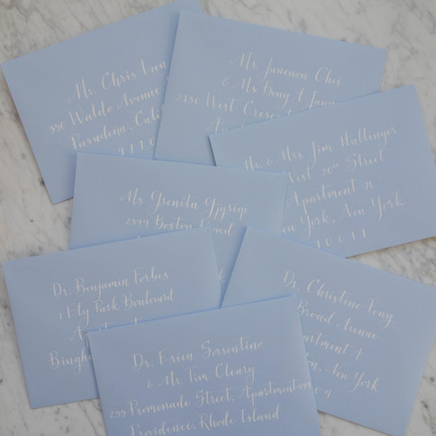 Baby Blue Wedding Invites