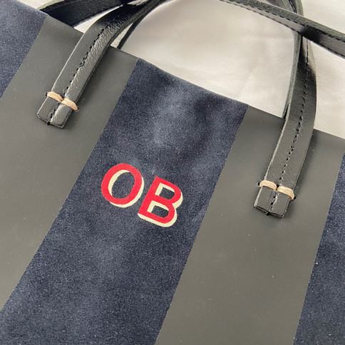 Monogrammed Suede Bag