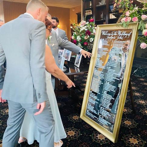 Wedding Welcome Mirror Sign
