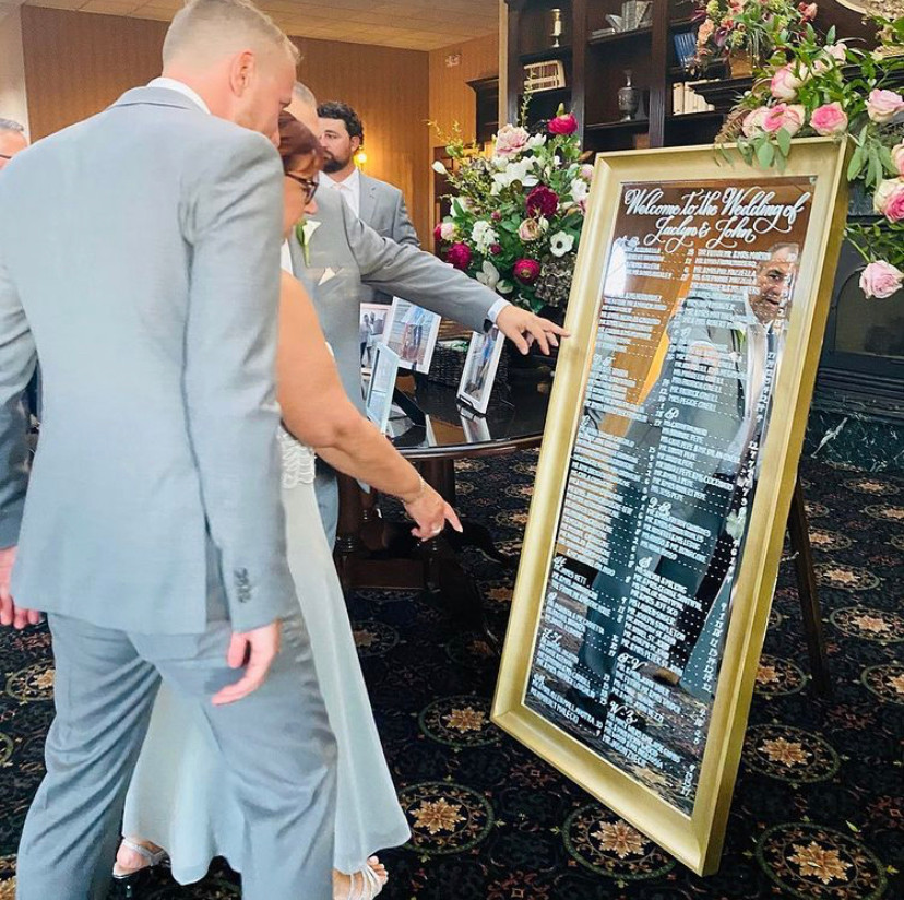 Wedding Welcome Mirror Sign