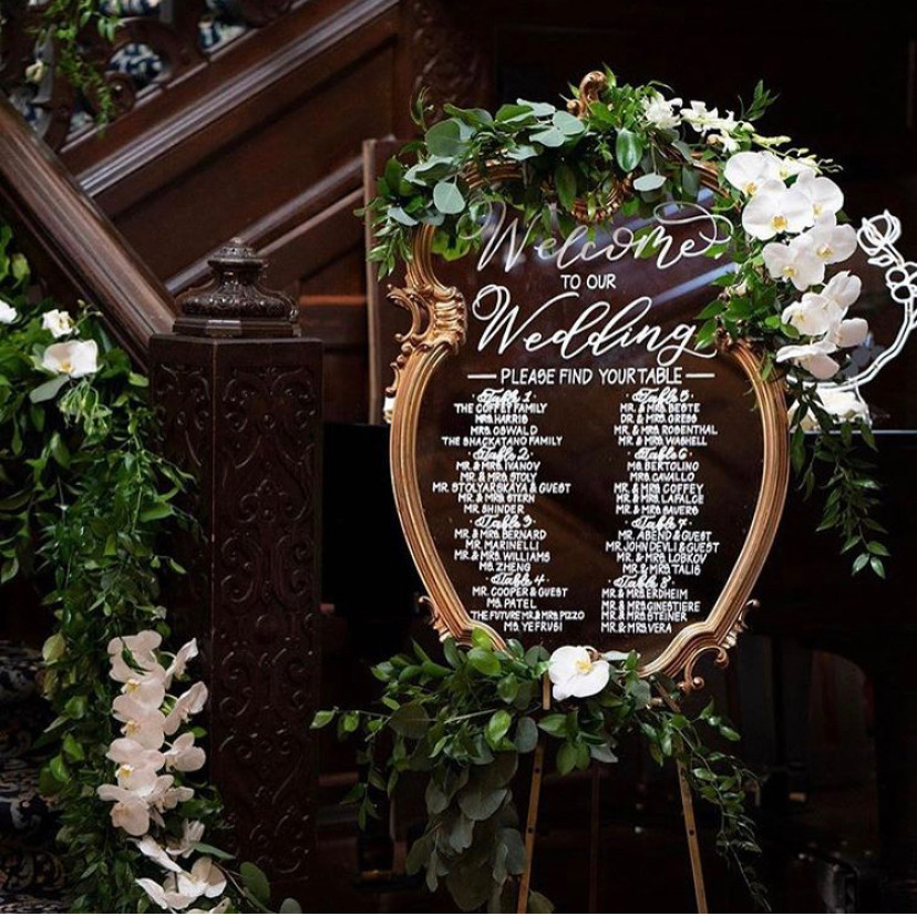 Romantic Calligraphy Wedding Welcome/ Seating Sign