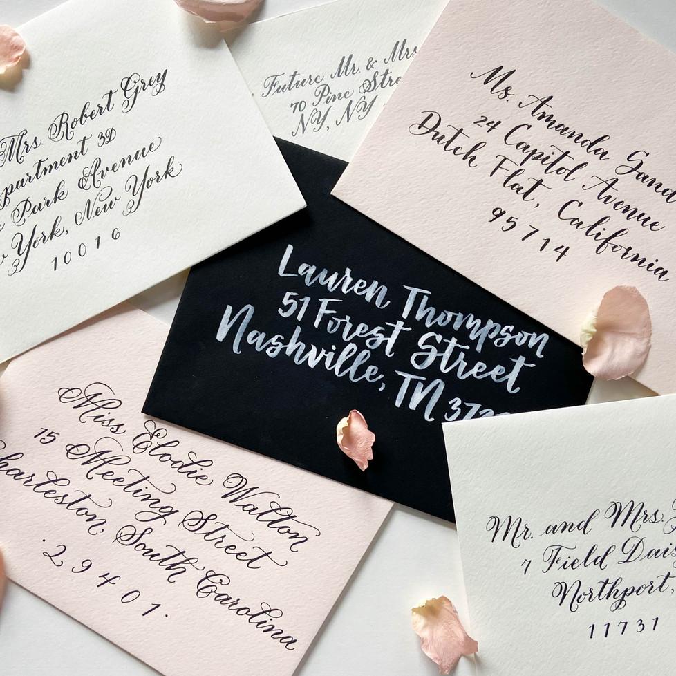 New York Wedding Calligraphy