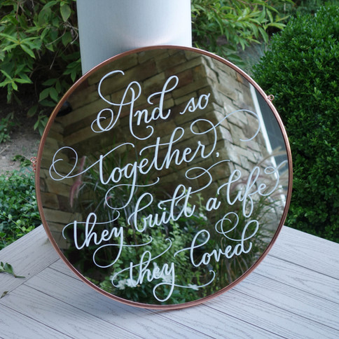 Wedding Love Quote Sign Calligraphy