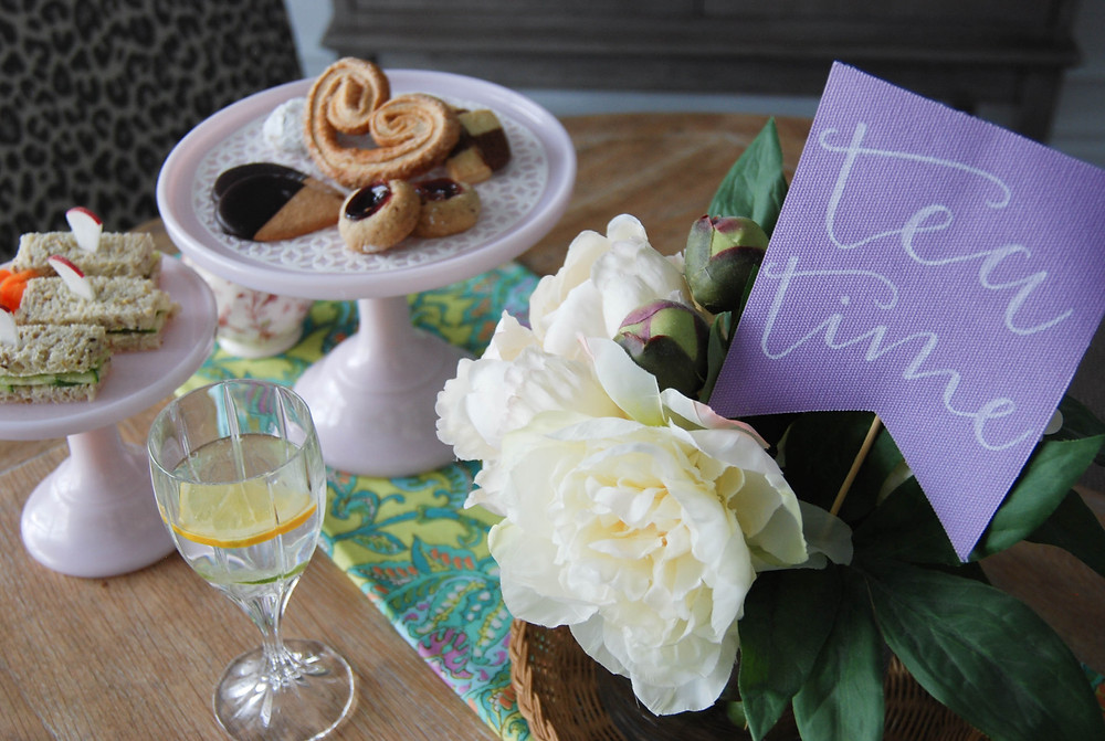 P.S. Calligraphy | Tea Time Sign