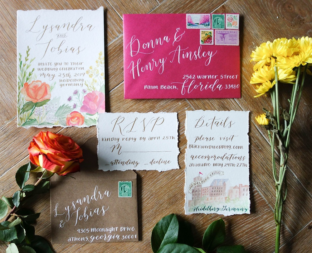 Summer Wedding Invitation Suite | P.S. Calligraphy