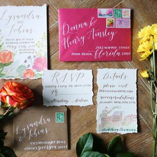 A Summer Wedding Invitation Suite