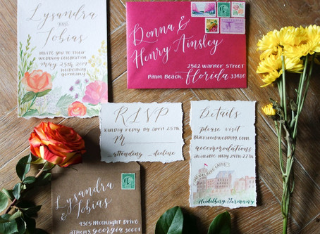 A Summer Wedding Invitation Suite