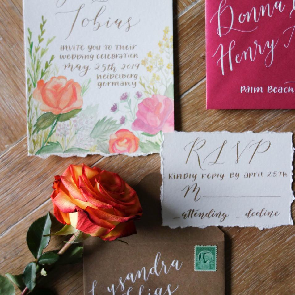 Summer Desitination Wedding Invitation Suite