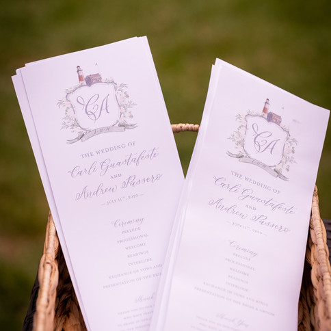 Wedding Calligraphy Ceremony Cards
