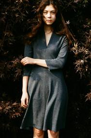 Folded V-neck Dress, 2015