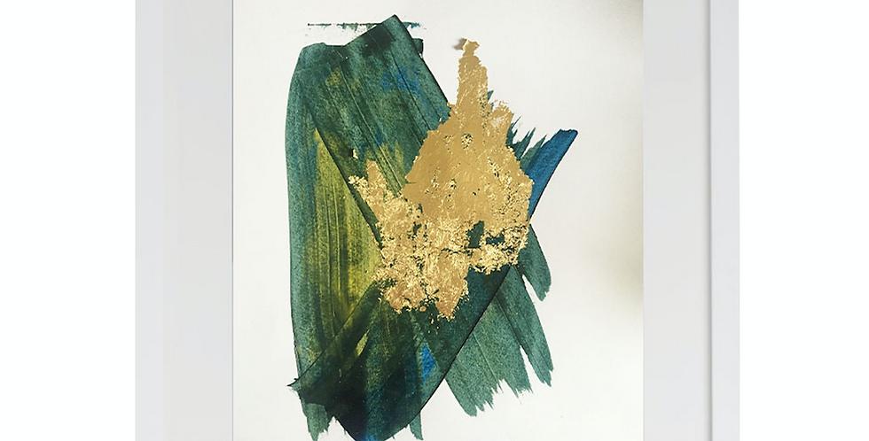 A3 Textured Print- Green ( 003)