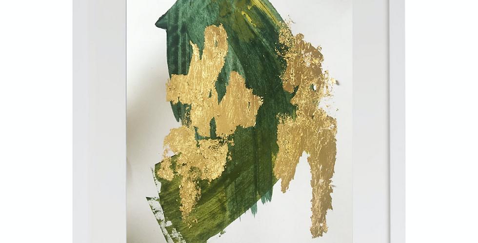 A3 Textured print Green (001)