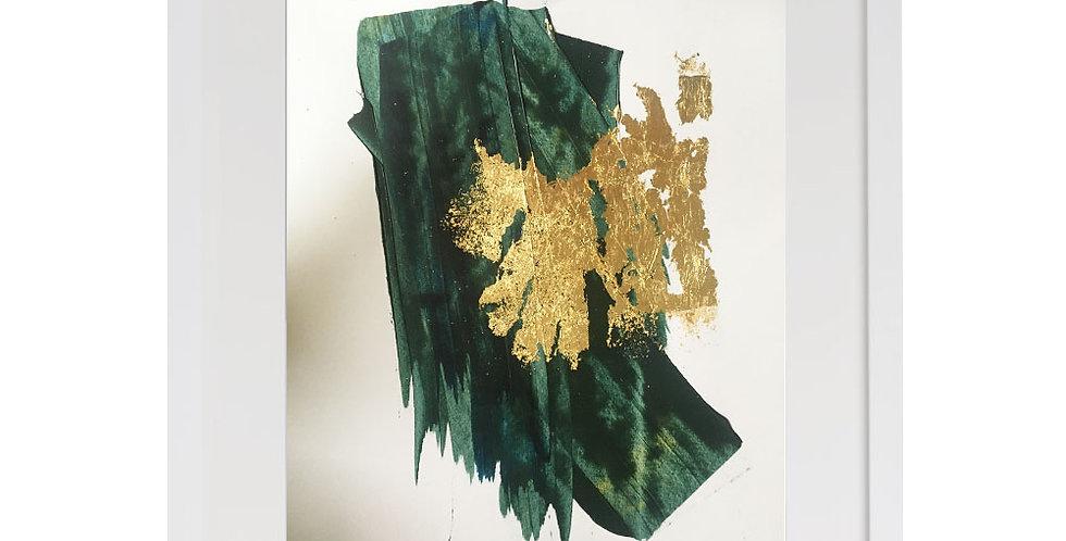 A3 Textured Print -Green (007)