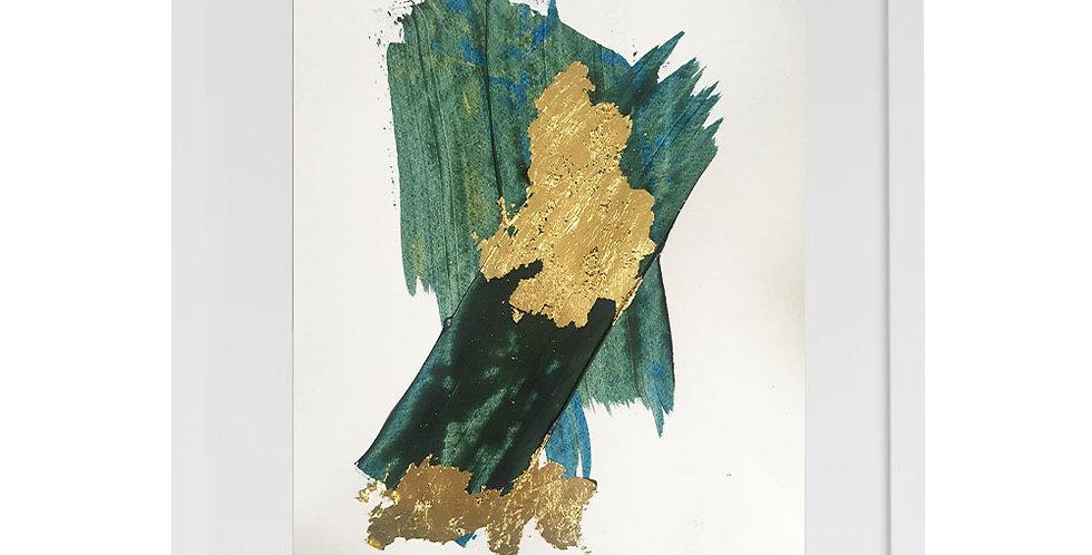 A3 Textured Print -Blue (005)