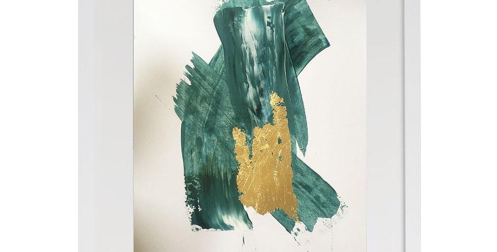 A3 Textured Print - blue (006)