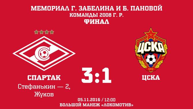 """Спартак 3-1 ЦСКА (2008 год рождения, воспитанники """"Дом Футбола"""")"""