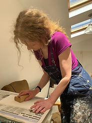 Beverley Healy in Art Studio