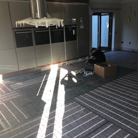 Electrical Underfloor Heating Installation - Cyncoed, Cardiff
