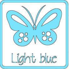 matte vinyl lichtblauw