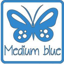 matte vinyl blauw