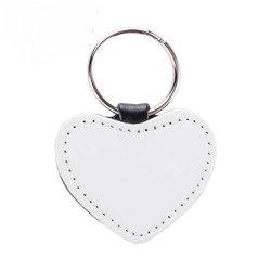 Sleutelhanger hart leder
