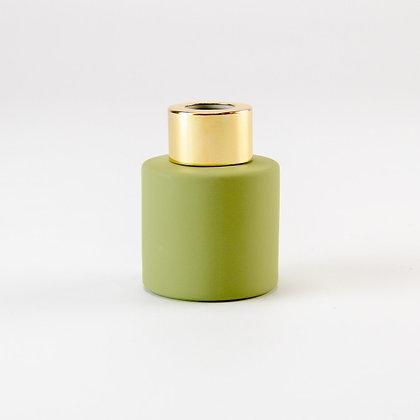 Parfumflesje groen/goud (met stokjes)
