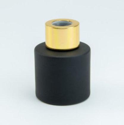 Parfumflesje zwart/goud (met stokjes)