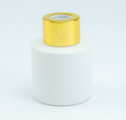 Parfumflesje wit/goud(met stokjes)