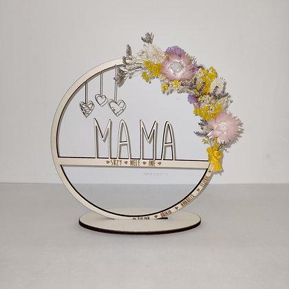 Cirkel mama bloemen met naam