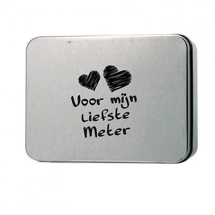 Metalen doosje liefste meter