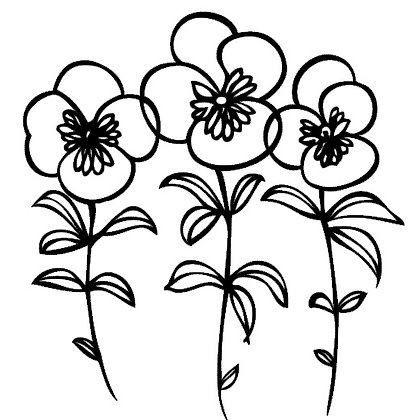 Bloemen muursticker 30x30 cm