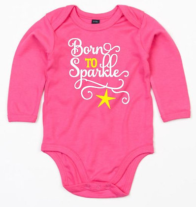 Romper born to sparkle