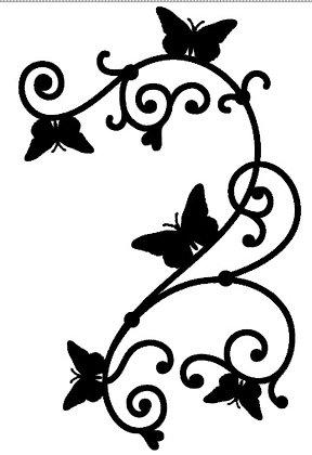 Vlinders 30x47 cm