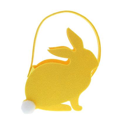 Mandje geel konijn