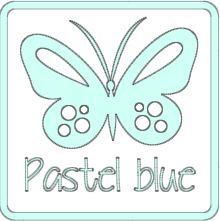 matte vinyl pastel blauw