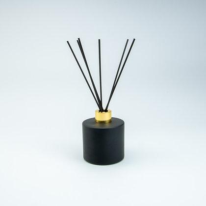 Parfumfles 200 ml zwart/goud(met stokjes)
