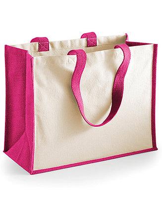 Shopper print katoen/jute