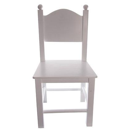 Wit stoeltje met bollen