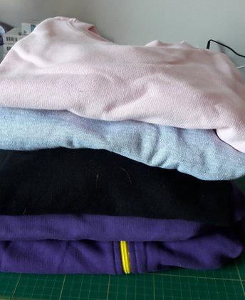 Lot sweaters (met en zonder kap)