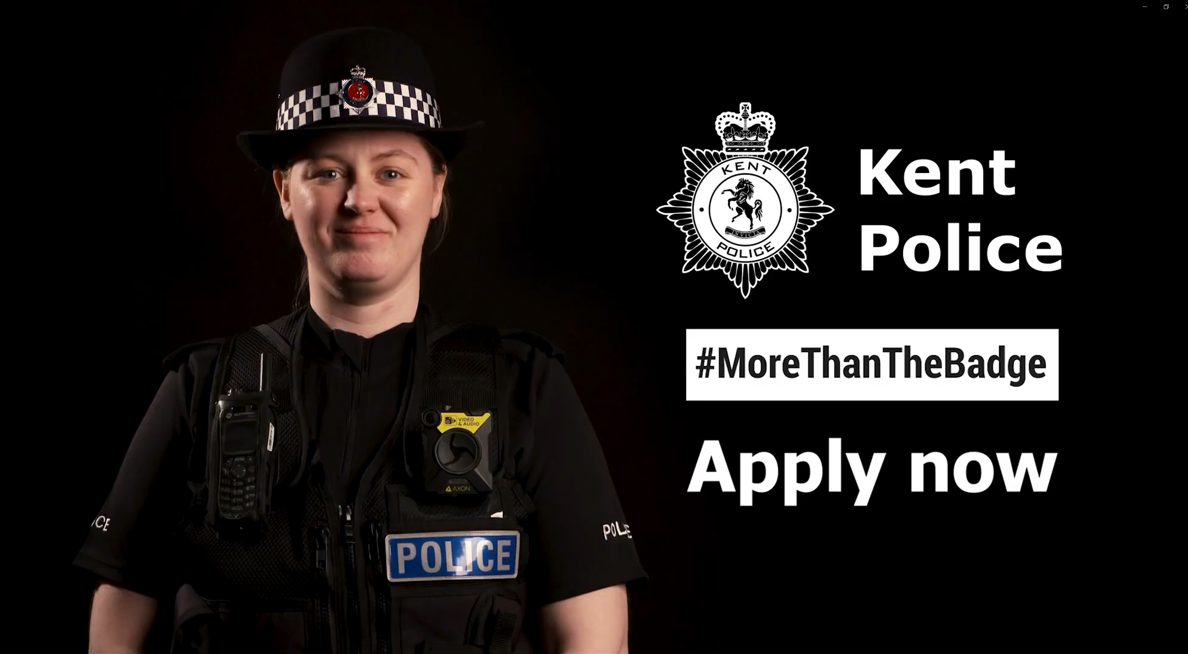 Kent Police Recruitment Commercial