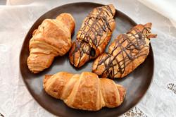Croissanty klasické a čokoládové