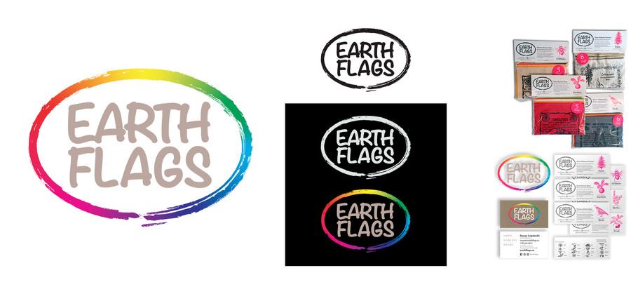 Earth Flags logo & applications