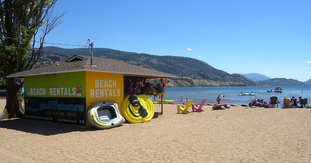 Penticton's South beach at Skaha.