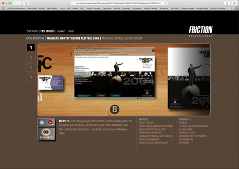 Friction website from 2008