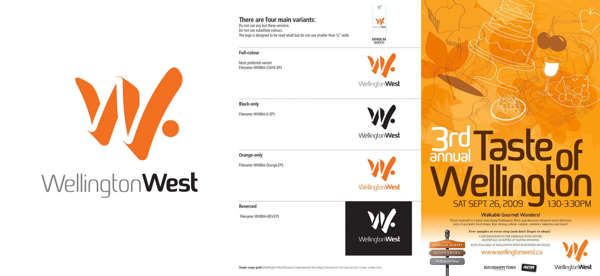 Wellington West BIA logo & applications