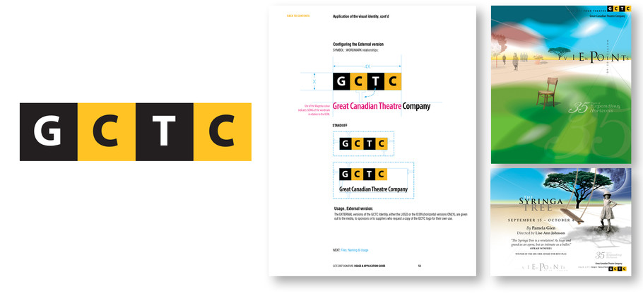 Great Canadian Theatre Company logo & applications
